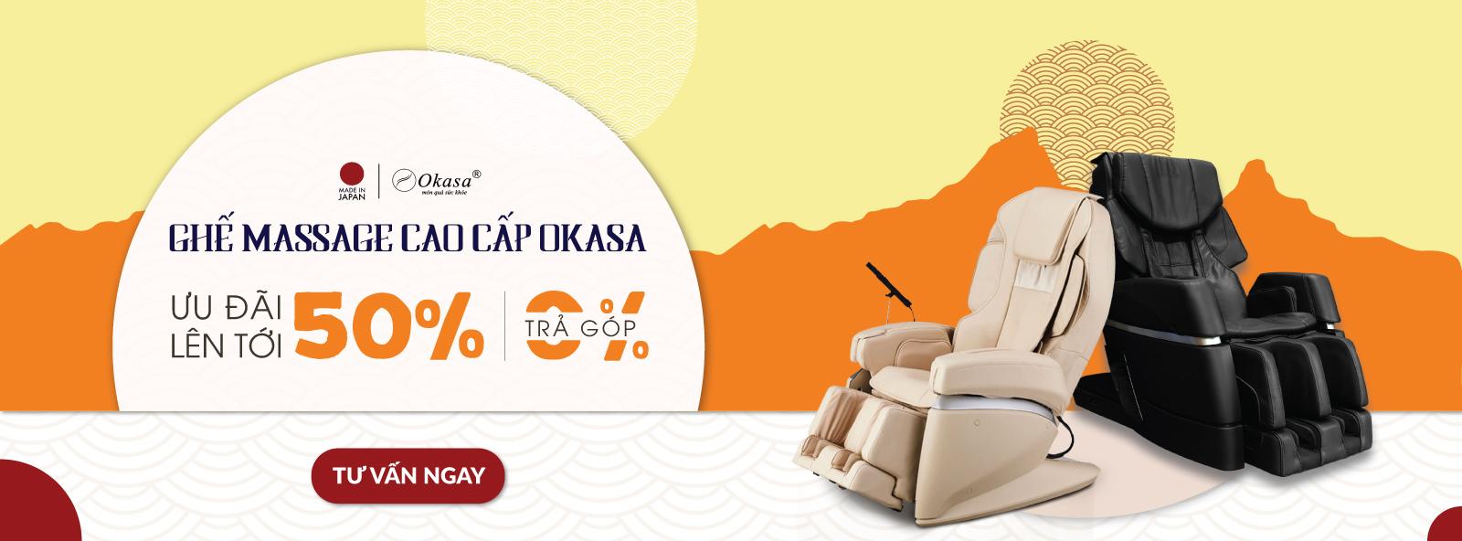 ghế massage toàn thân nhật bản cao cấp Okasa