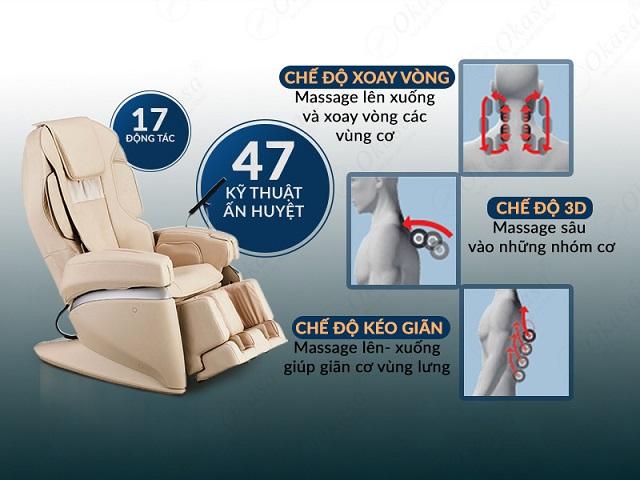 Ghế massage không chỉ thư giãn mà còn trị liệu
