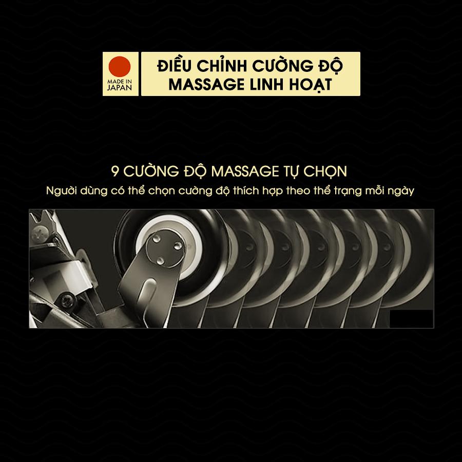ghế massage FUJIIRYOKI JP-870 điều chỉnh lực dễ dàng