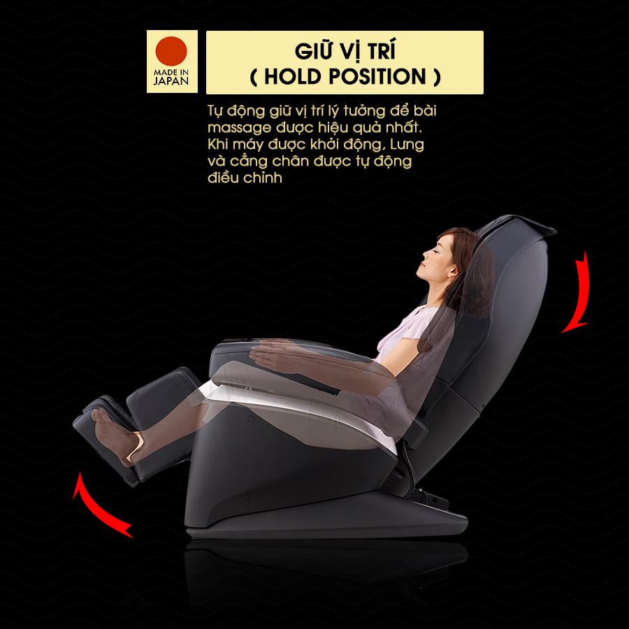 ghế massage FUJIIRYOKI JP-870 hold position