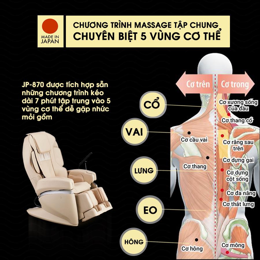 ghế massage FUJIIRYOKI JP-870 massage toàn thân