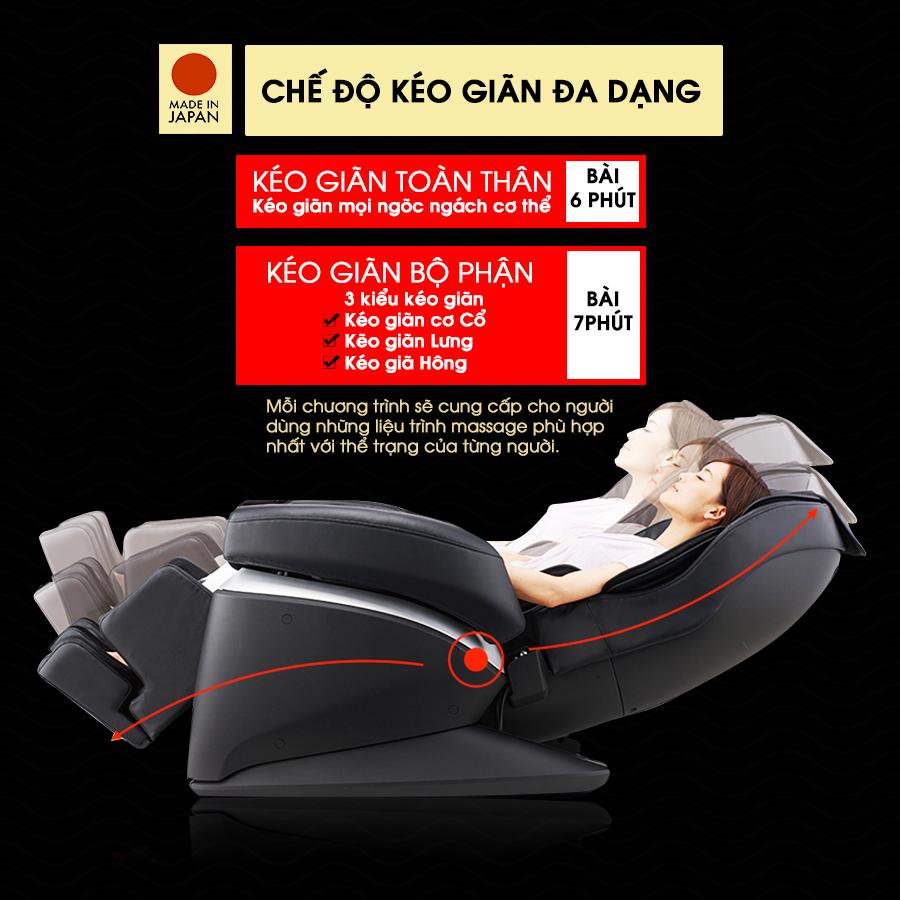 ghế massage FUJIIRYOKI JP-870 tính năng kéo giãn