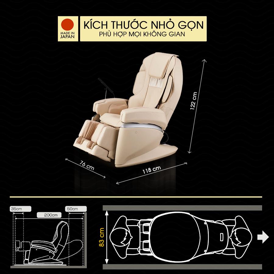 Kích thước Ghế massage toàn thân FUJIIRYOKI JP-870