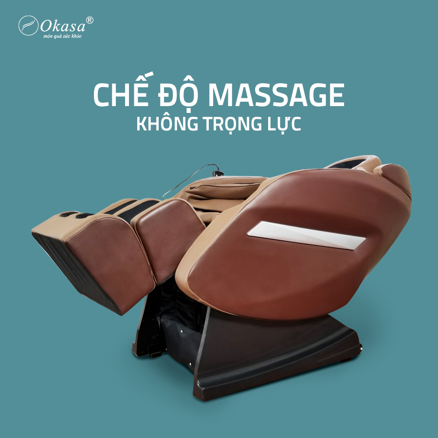 Chế độ massage không trọng lực của ghế massage Okasa 168 Plus