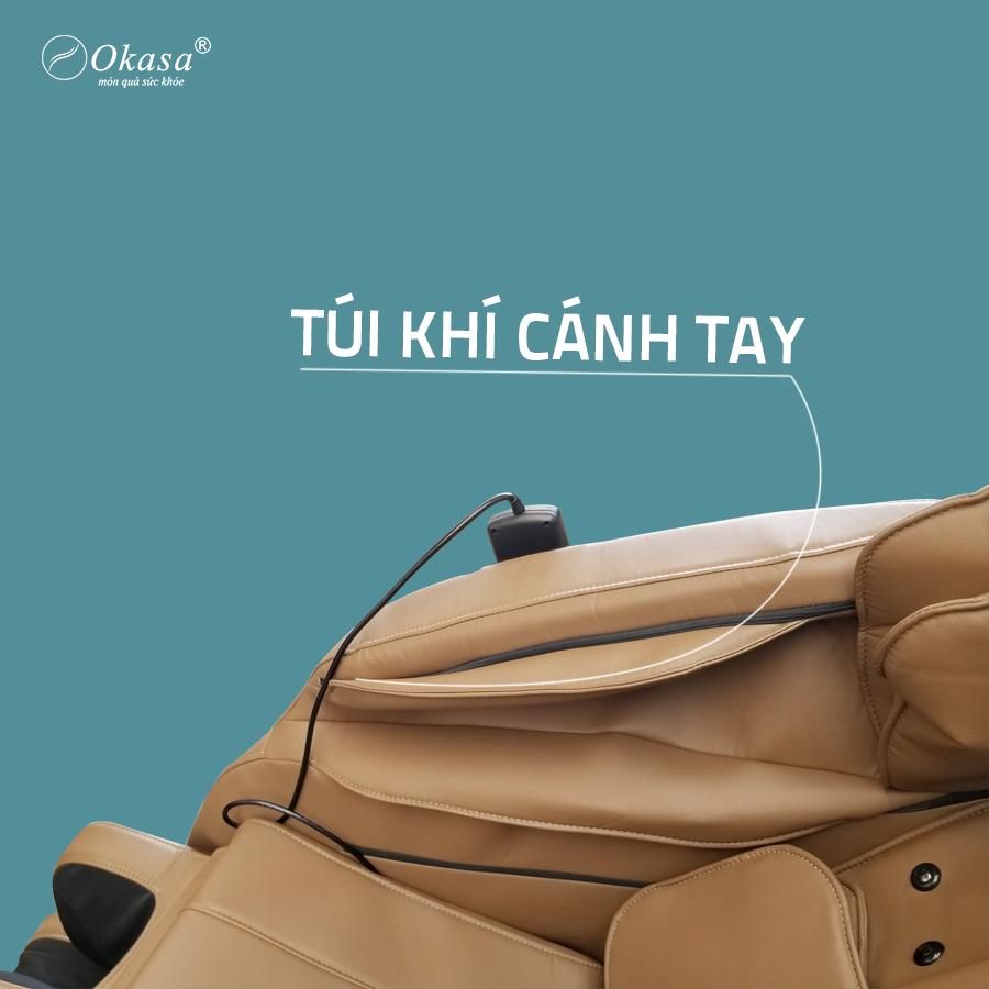 Túi khí cánh tay trên ghế massage Okasa OS 168 Plus