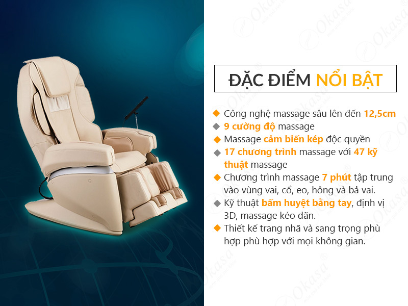 Ghế massage toàn thân FUJIIRYOKI JP-870