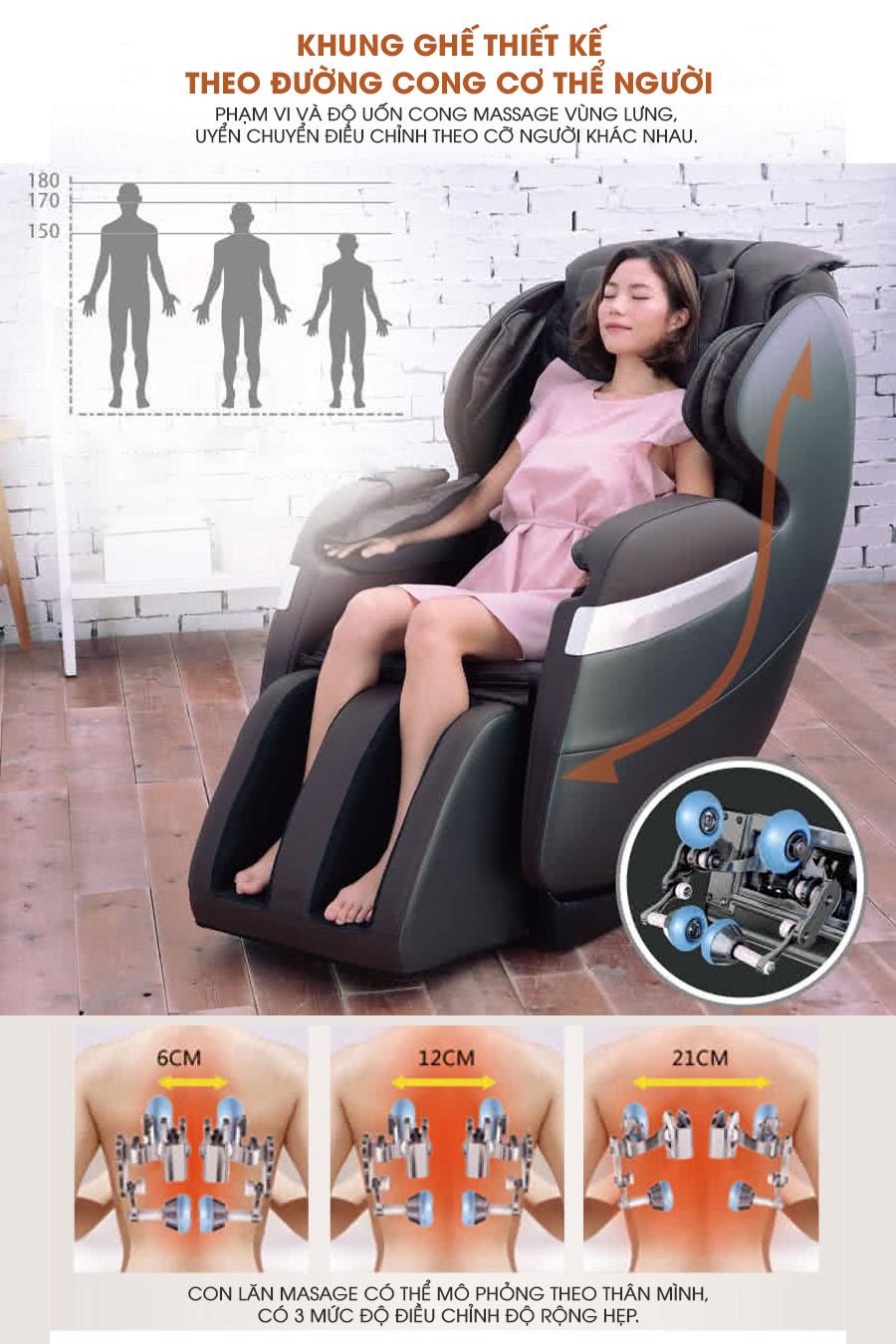 Ghế massage toàn thân Okasa OS-268 Plus