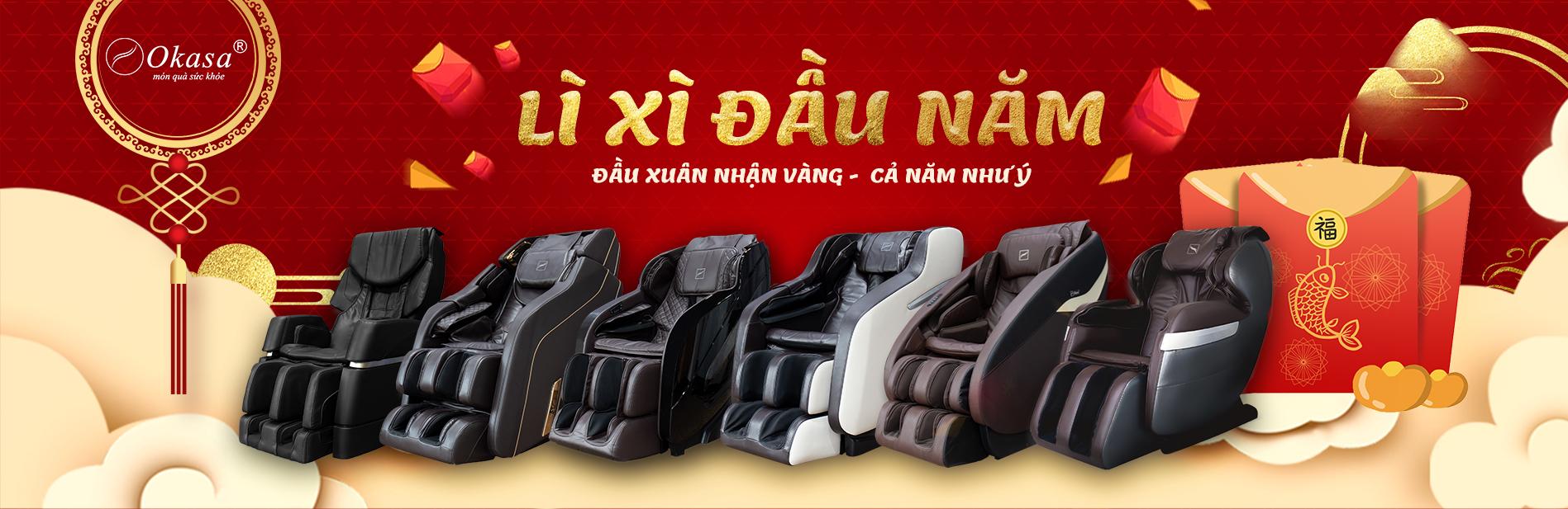 Mua ghế massage - Đầu xuân nhận vàng - cả năm như ý