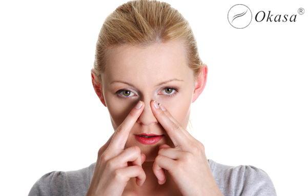 Phương pháp massage điều trị nghẹt mũi