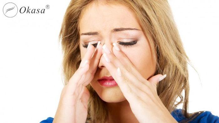 Phương pháp massage trong 30 giây trị đau xoang và nghẹt mũi