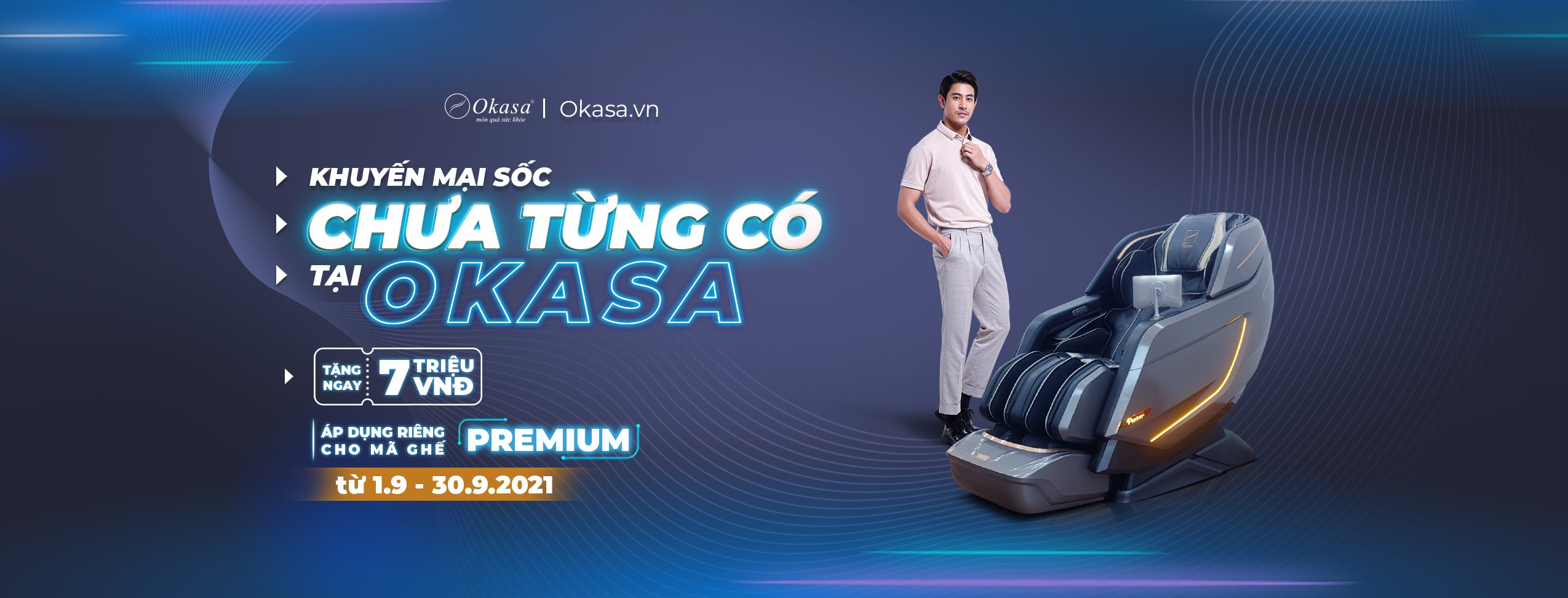 Tiết kiệm 7 triệu đồng khi mua ghế massage Premium